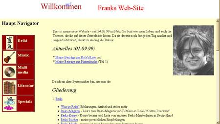 frankdoerr.de im Jahr 1999